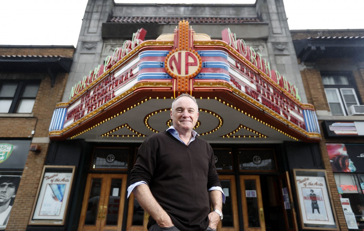 Film Director Kevin Tent at the North Park Theatre in Buffalo Monday, October 9, 2017.  (Mark Mulville/Buffalo News)