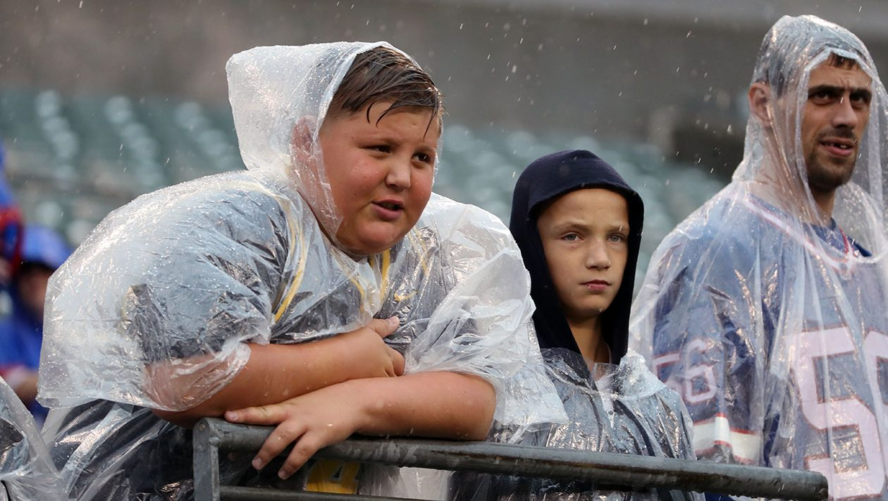 Expect some inclement weather if you're heading to Sunday's game. (James P. McCoy/News file photo)