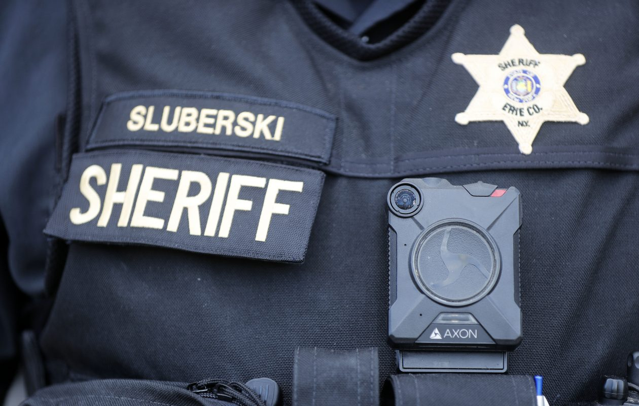 A dozen Erie County Sheriff's deputies are testing out body cameras for the next two months. (Mark Mulville/Buffalo News)