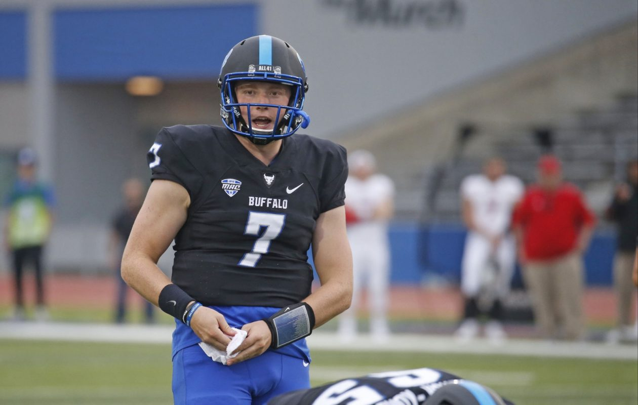 Kyle Vantrease got his first game action Saturday in a 14-13 loss to Northern Illinois. (Robert Kirkham/The Buffalo News)