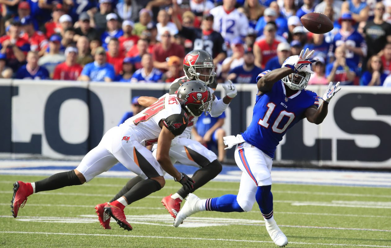 Bills receiver Deonte Thompson played 21 snaps in his first game with the team Sunday. (Harry Scull Jr./ Buffalo News)