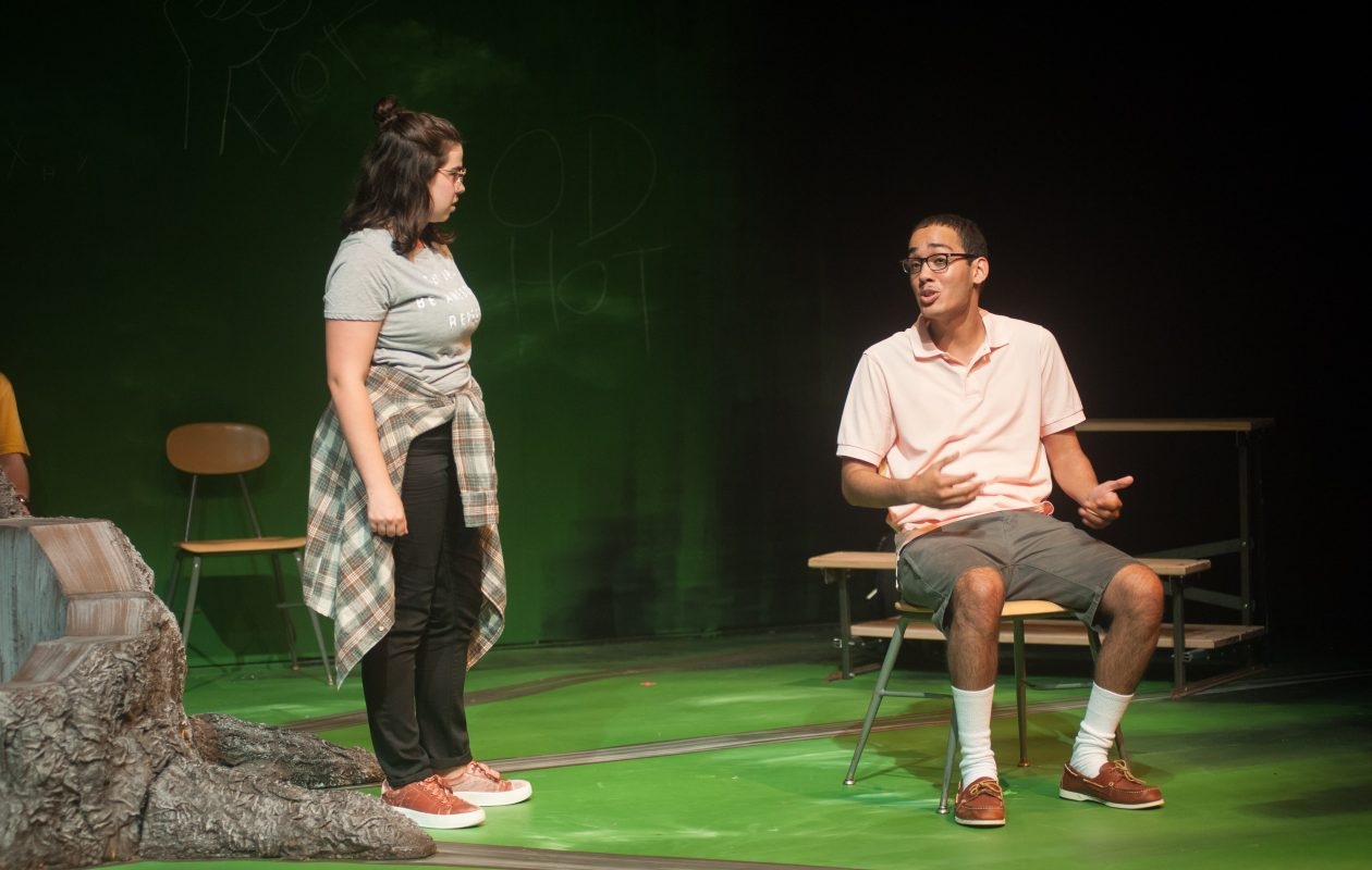 Eliza Zanolli-Stiles and Azarias Soto appear in the Paul Robeson Theatre and SUNY Buffalo State theater department's co-production of 'Blood at the Root.'