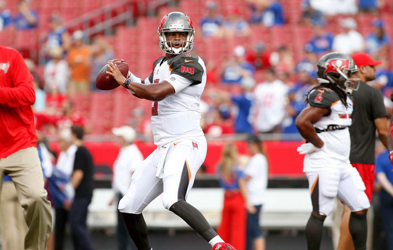 What will happen when the Bills face Tampa Bay QB Jameis Winston and the Buccaneers on Sunday? (Brian Blanco/Getty Images file photo)