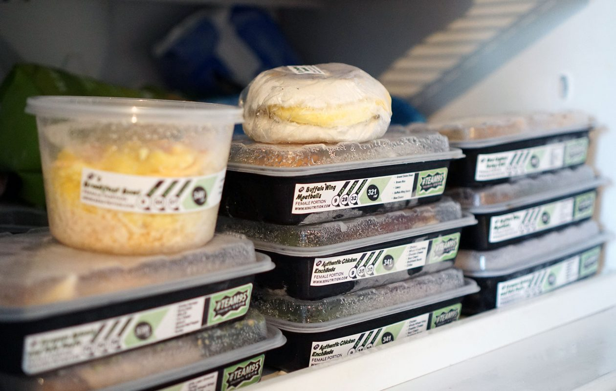 Meals from 95 Nutrition come frozen and ready to microwave. (Dave Jarosz)