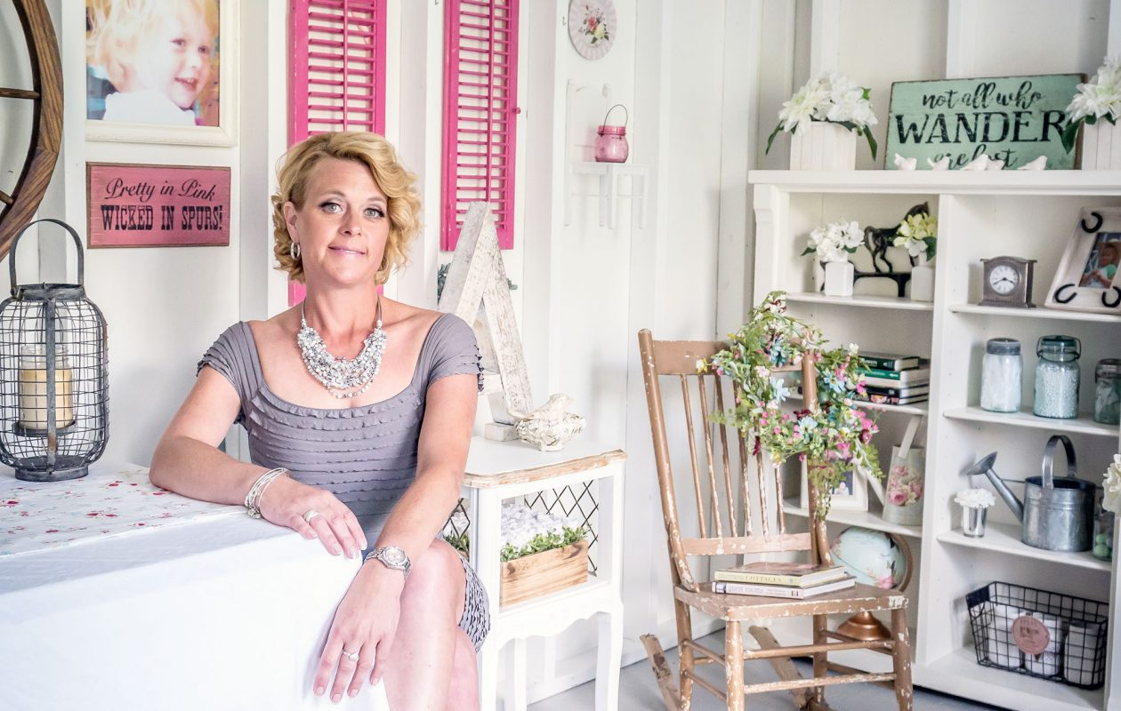 An avid antique collector and self-described vintage junk gypsy, Ann Preischel has stocked her she-shed full of great finds. (Alicia Wittman)