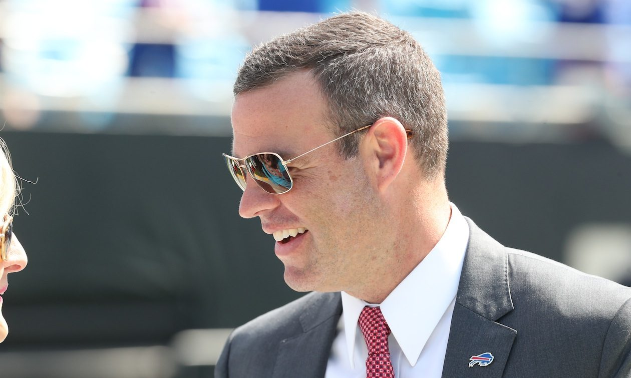 Brandon Beane said, It's a quarterback league. Where you get it, I really don't care. (James P. McCoy/Buffalo News)