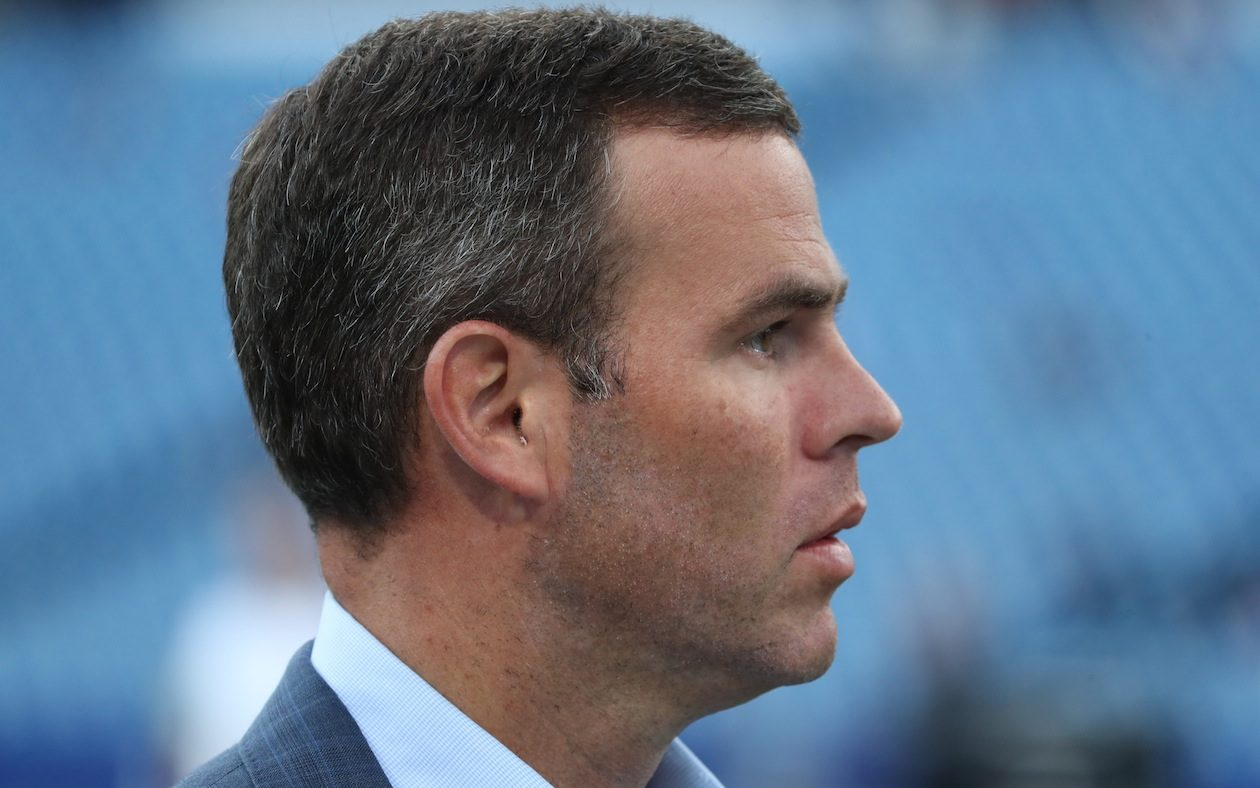 Bills General Manager Brandon Beane has six picks in the first three rounds of the draft to work with. (James P. McCoy/Buffalo News)