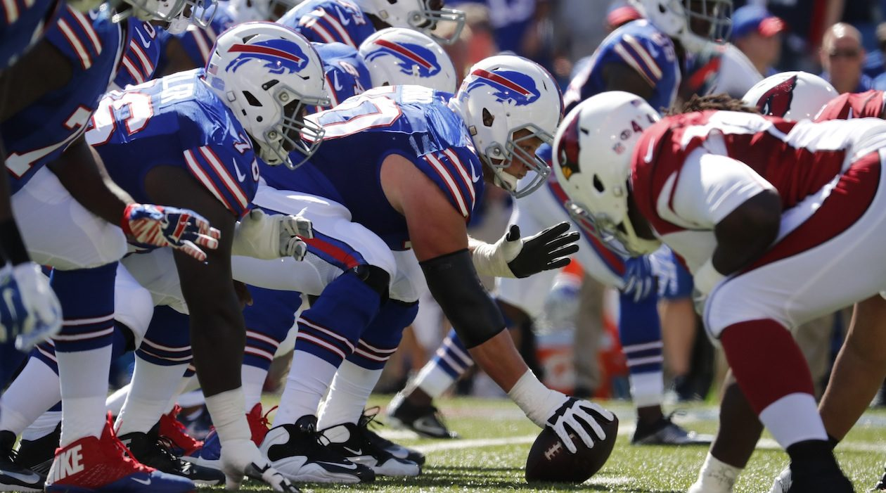 Center Eric Wood and the Bills' offense (Harry Scull Jr./Buffalo News)