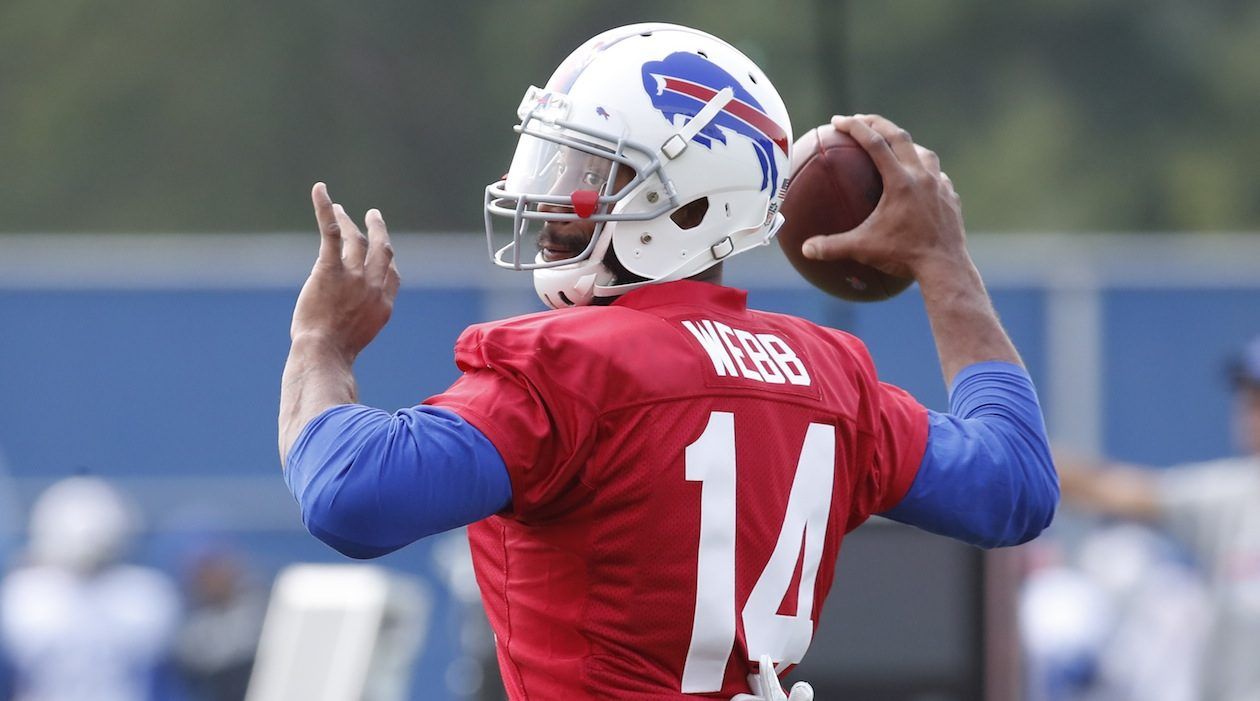 Joe Webb will be the Bills' backup quarterback Sunday if Tyrod Taylor can't play. (Harry Scull Jr./Buffalo News)