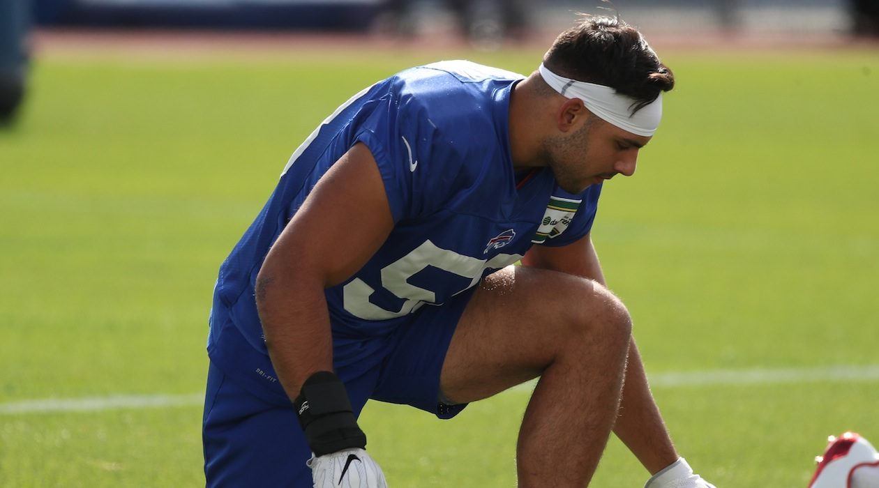 Matt Milano ranked 34th among 68 qualifying linebackers in Week Five.(James P. McCoy/Buffalo News)