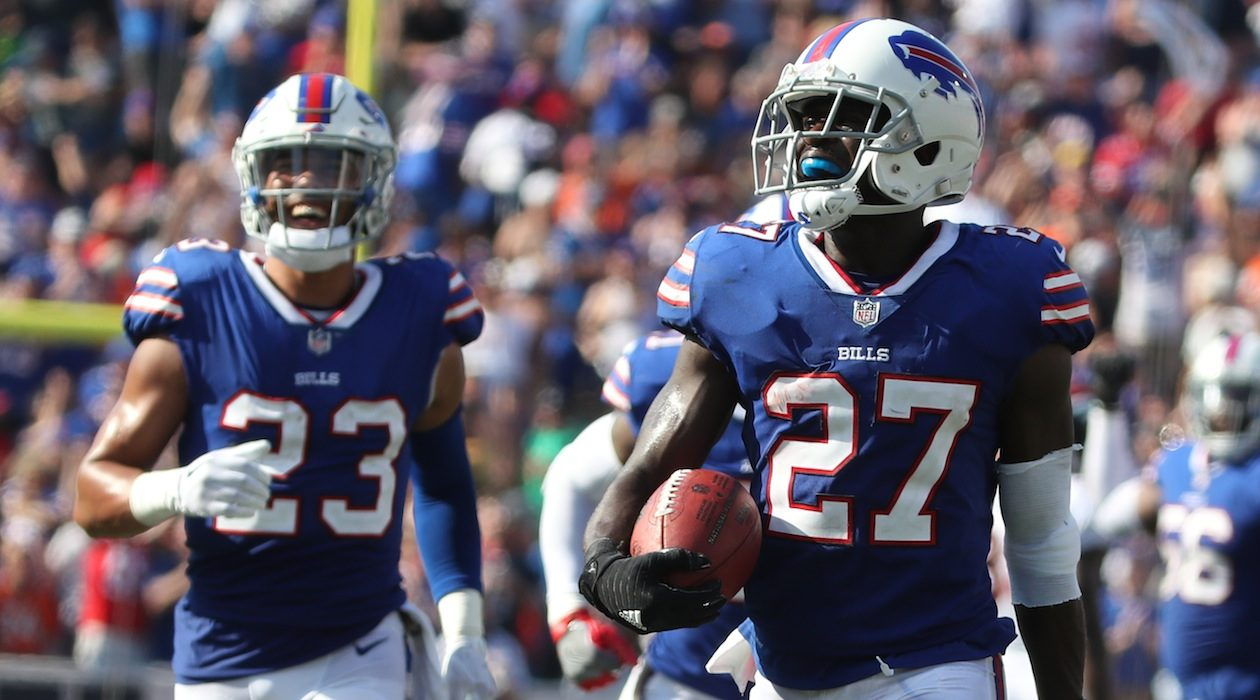 Not that the Buffalo Bills would do it, but Tre'Davious White's trade value is sky high right now. (James P. McCoy/Buffalo News)