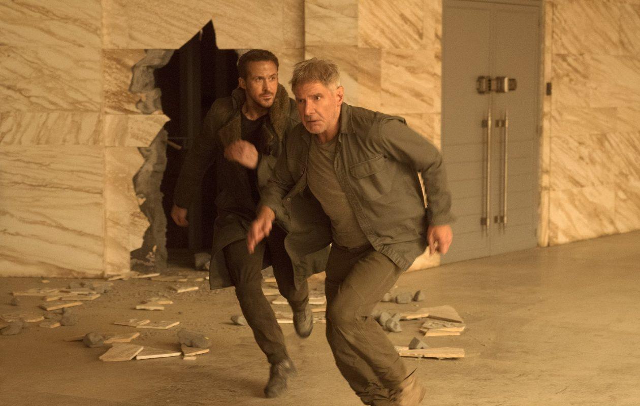 Ryan Gosling as K, left, and Harrison Ford as Deckard in 'Blade Runner 2049.' (Stephen Vaughan / Warner Bros. Pictures)