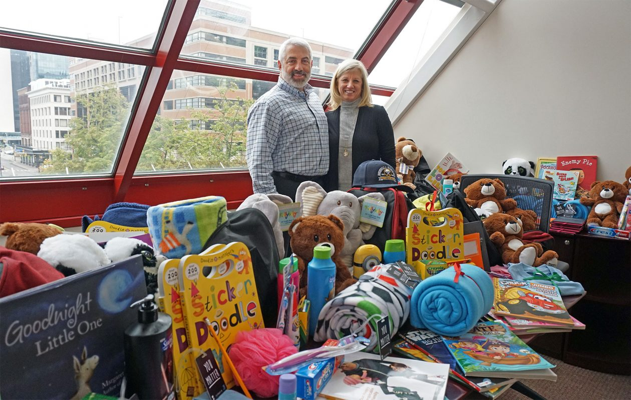 In less than one year, Paul Snyder III and his wife, Susan, helped collect and place more than 700 care cases with foster children in WNY. (Dave Jarosz)