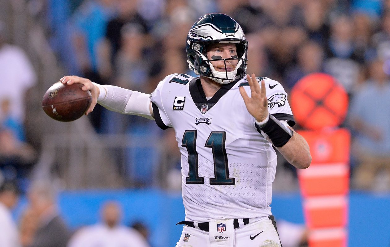 Carson Wentz has led the Philadelphia Eagles to a 5-1 record. (Getty Images)