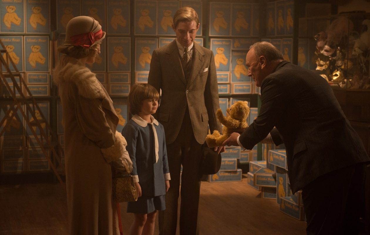 "Margot Robbie, Will Tilston, Domhnall Gleeson and Richard Clifford in ""Goodbye Christopher Robin."" (David Appleby/Twentieth Century Fox/TNS)"