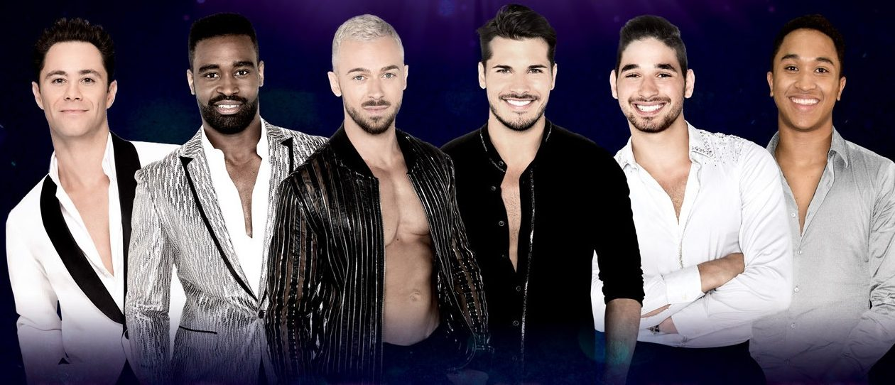 """The men of """"Dancing with the Stars Live: Light up The Night"""" are, from left, Sasha Farber, Keo Motsepe, Artem Chigvintsev, Gleb Savchenko, Alan Berstein and Brandon Armstrong."""
