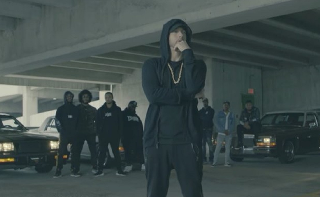 Eminem free-styling 'The Storm' on the BET Awards.