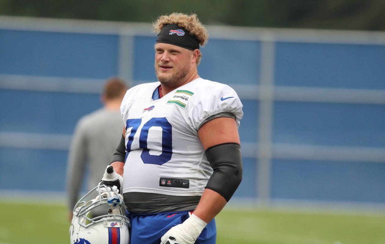 Buffalo Bills center Eric Wood. (James P. McCoy / Buffalo News)
