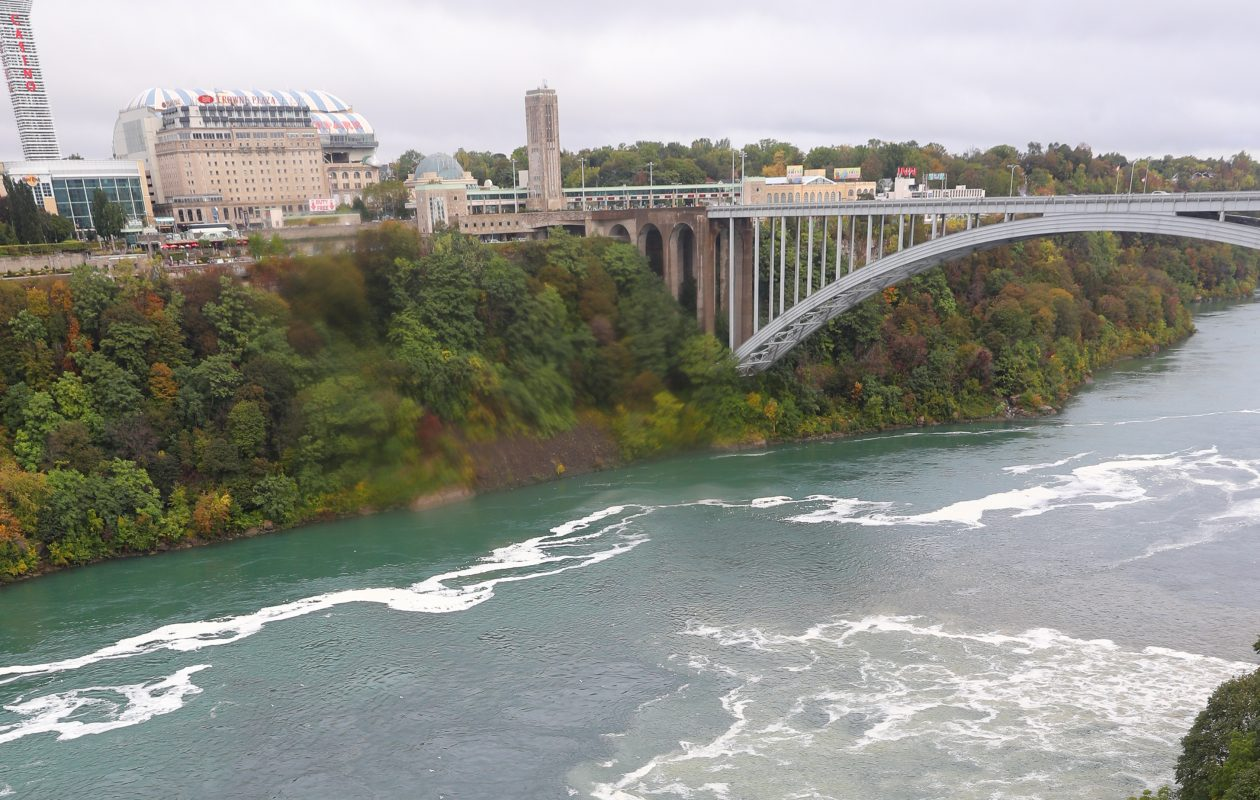 Another sewage discharge in Niagara Falls occurred Monday during a heavy rain storm. (John Hickey/Buffalo News)