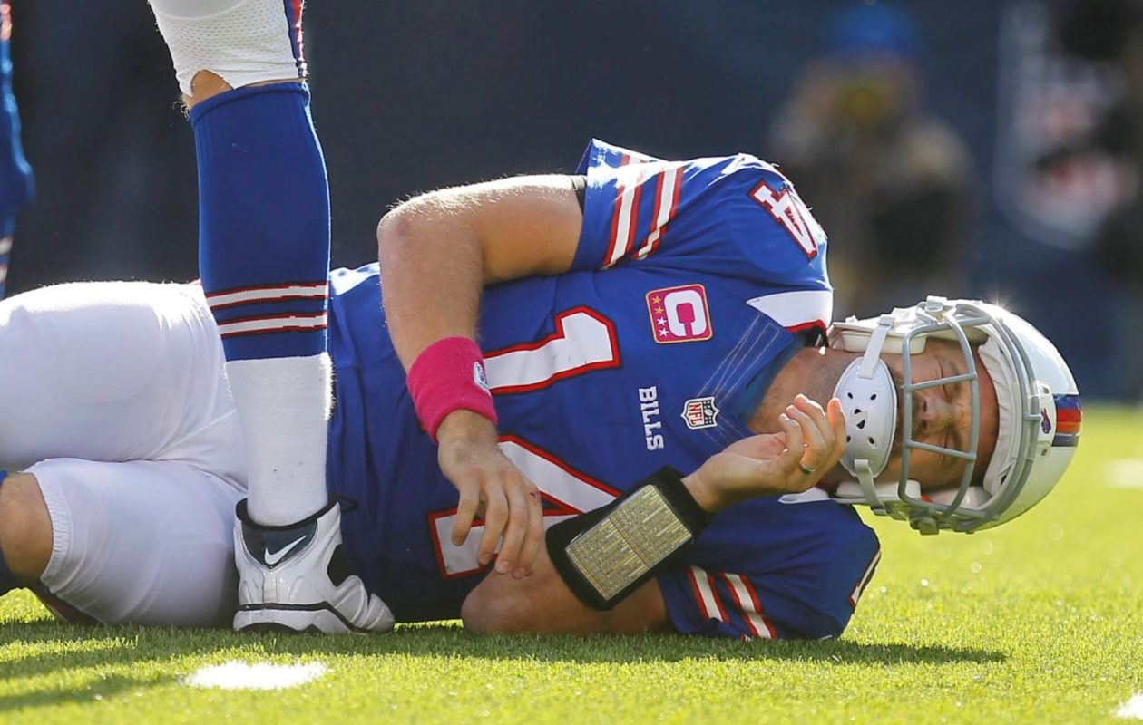 In a back-and-forth contest on Oct. 21, 2012, Ryan Fitzpatrick and the Bills came up short in a 35-34 loss to the Tennessee Titans. (Mark Mulville/News file photo)