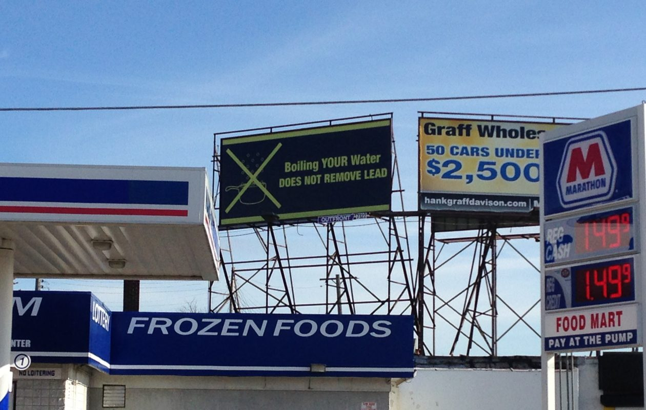 A billboard from Flint, Mich. (T.J. Pignataro/Buffalo News file photo)