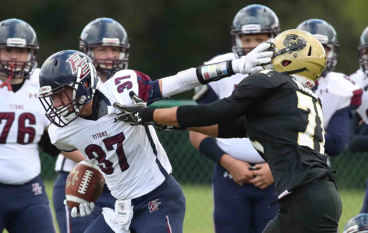 Austin Grinols (37) and Franklinville/Ellicottville are currently the top seed and only unbeaten team left in Class D. (James P. McCoy/Buffalo News)