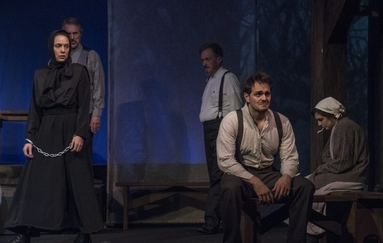Aleks Malejs, Peter Palmisano, David Lundy, Adriano Gatto and Leah Berst are featured in the Kavinoky Theatre's production of 'The Crucible.'