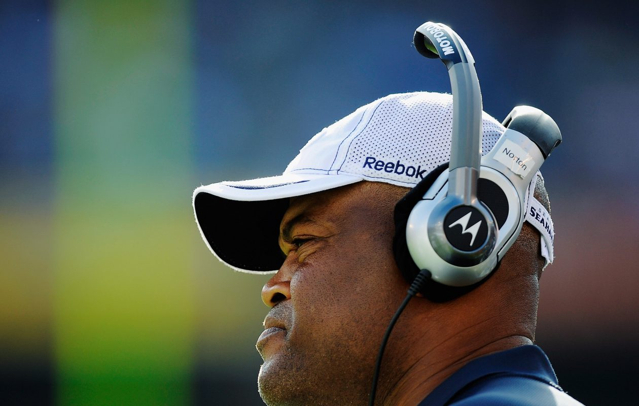 "Oakland Raiders offensive coach Ken Norton Jr. on Deonte Thompson: ""We're up to the challenge. "" (Getty Images)"