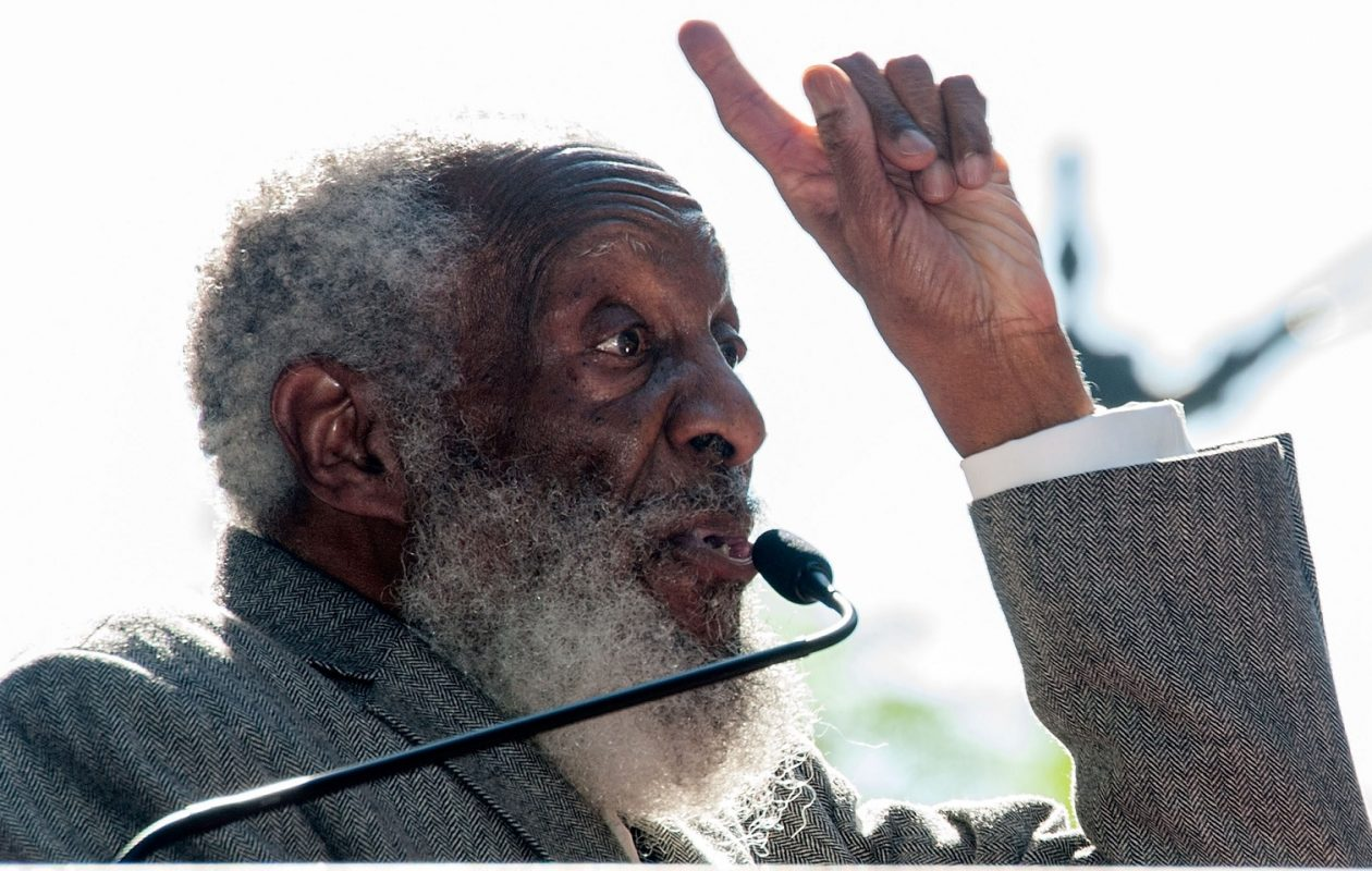 Late black comedian Dick Gregory is the focus of Jeff Simon's Editor's Choice. (Valerie Macon/AFP/Getty Images)