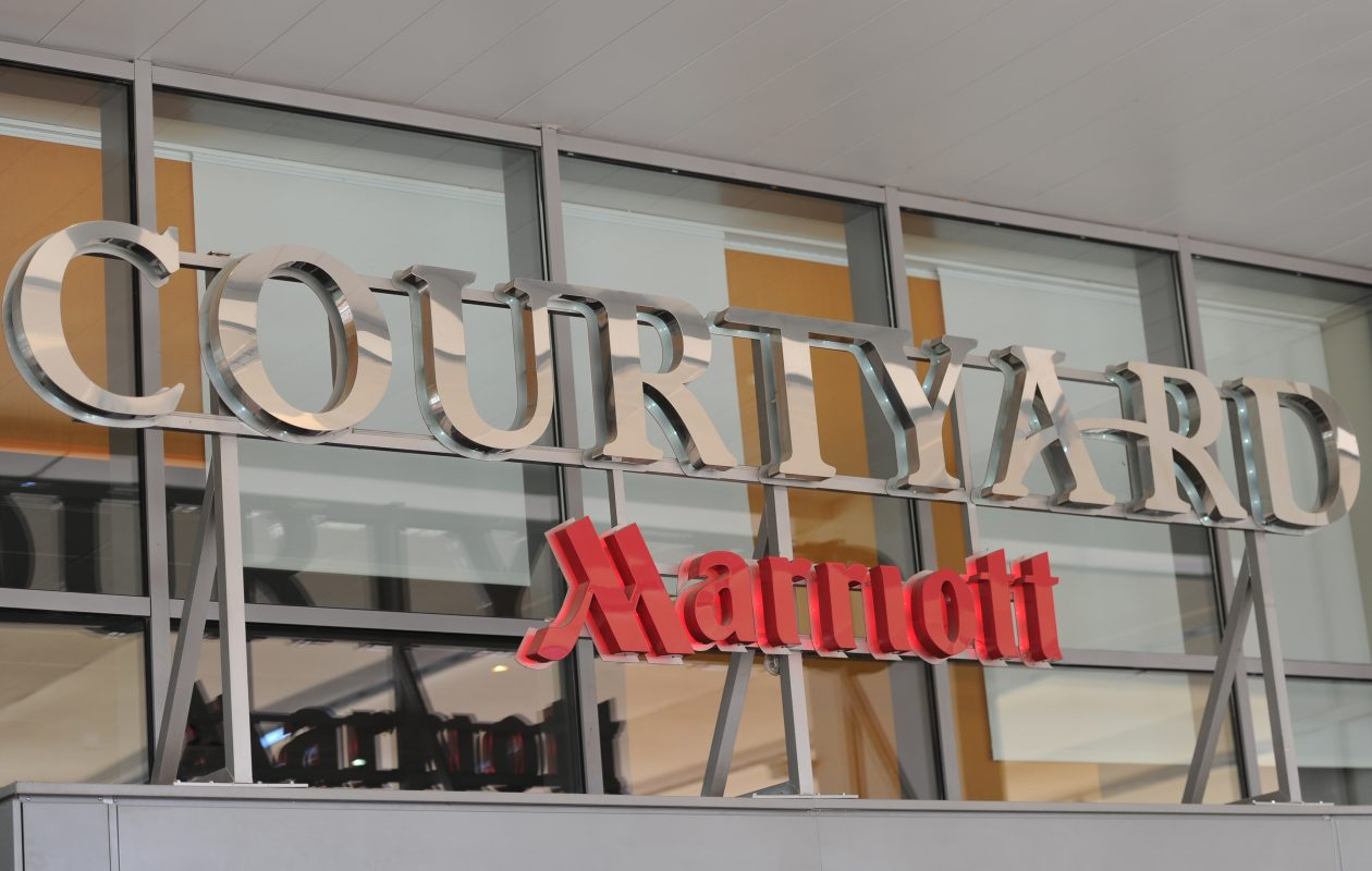A Courtyard Marriott Hotel.  (Sylvain Thomas/AFP/Getty Images)