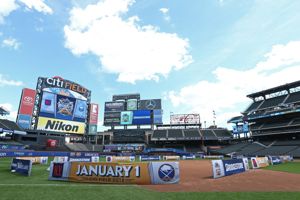 Overview of Citi Field before the 2018 Bridgestone NHL Winter Classic press conference at Citi Field on Sept. 8 in Queens, N.Y. The Sabres will play the Rangers in the 2018 Winter Classic. (Getty Images)