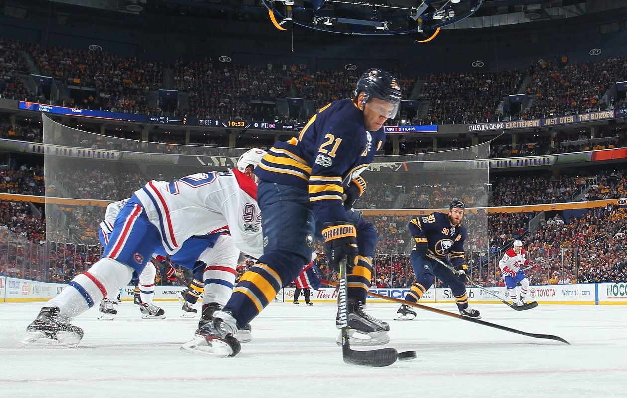 Healthy again, the Sabres' Kyle Okposo is focused on helping Buffalo take the next step. (NHLI via Getty Images)