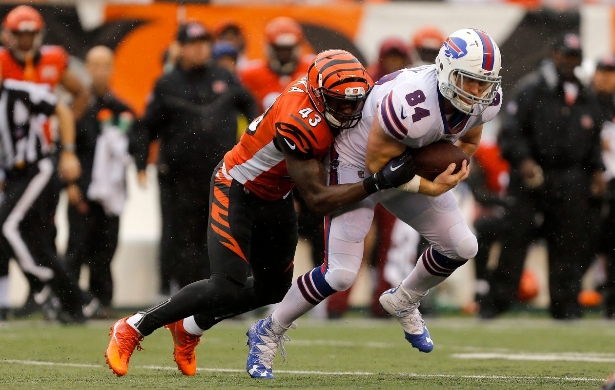 Nick O'Leary and the Buffalo Bills' offense struggled mightily to get going Sunday against the Bengals. (Getty Images)