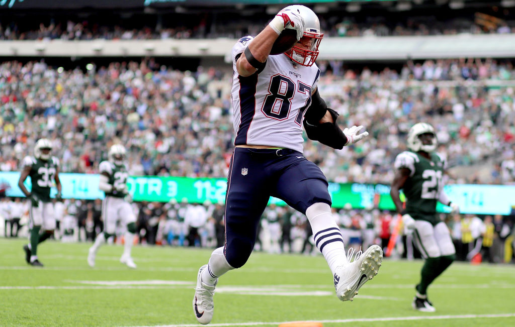 Rob Gronkowski and the New England Patriots are on a role and lead the AFC East. (Getty Images)