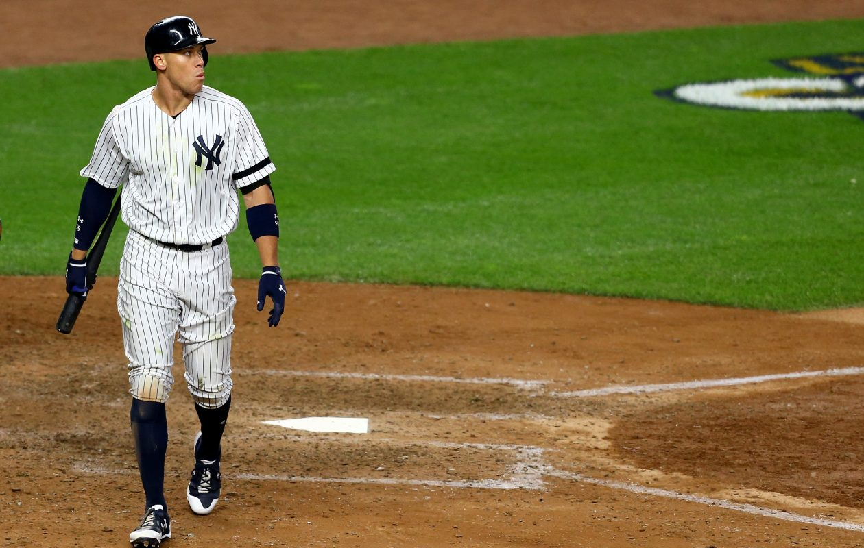 """Aaron Judge struck out again? No biggie. Just part of """"the process.""""  (Getty Images)"""