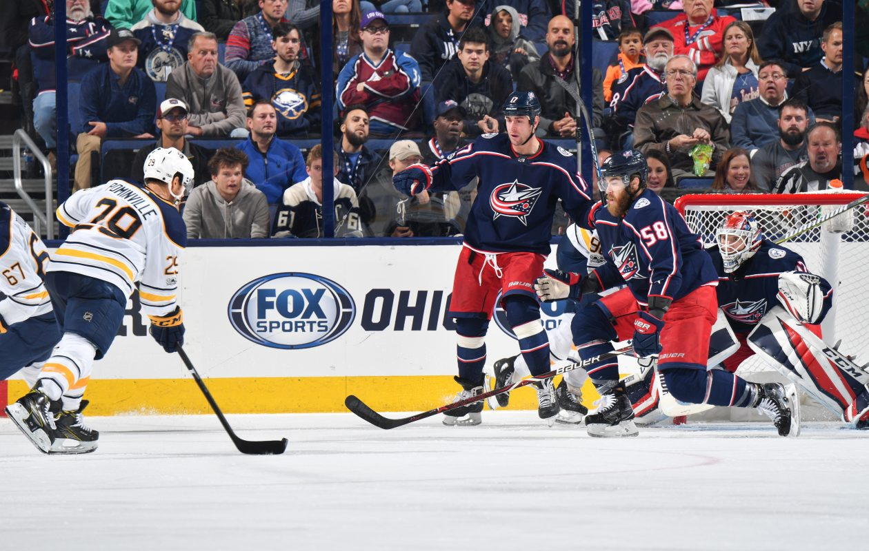 Columbus Goaltender Sergei Bobrovsky got the Sabres off their game. (NHLI via Getty Images)