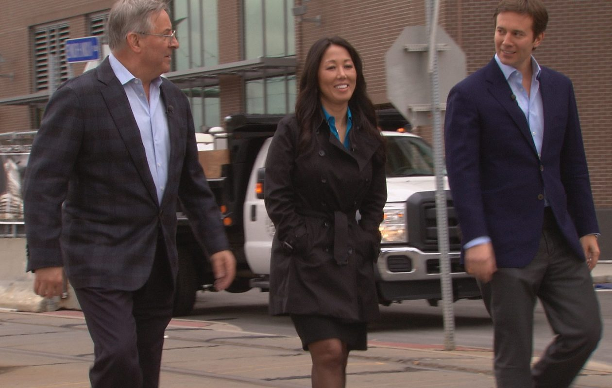 Terry and Kim Pegula talk to Jeff Glor about their purchase of the Bills and Sabres. (News file photo)
