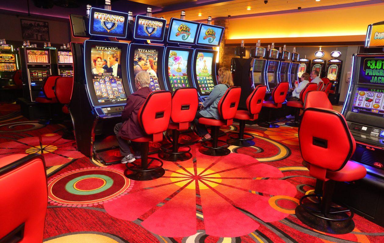 A $2 million renovation kicks in Friday with three days of giveaways and promotion new carpeting better views, new layout and eating areas coming to replace grill, buffet and bar areas  at Hamburg Gaming, Hamburg Gaming, 5820 South Park Ave,,  N.Y., on Thursday,Oct. 5, 2017.   (John Hickey/Buffalo News)