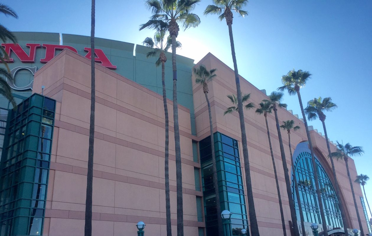 The Sabres are at the Honda Center in Anaheim Sunday night. (Mike Harrington/Buffalo News)
