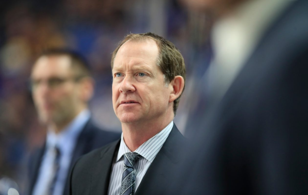Coach Phil Housley needs to see the Sabres stay tougher in crunch time (Harry Scull Jr./Buffalo News).