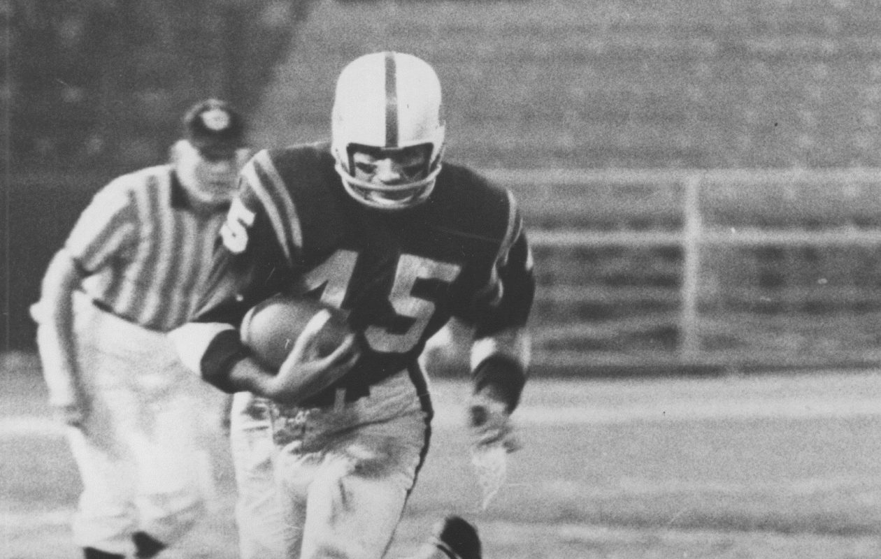 Bills QB Jack Kemp ran nine times for 26 yards, including three touchdown sneaks, in a  28-21 win over the Boston Patriots on Oct. 26, 1963. (Buffalo News file photo)