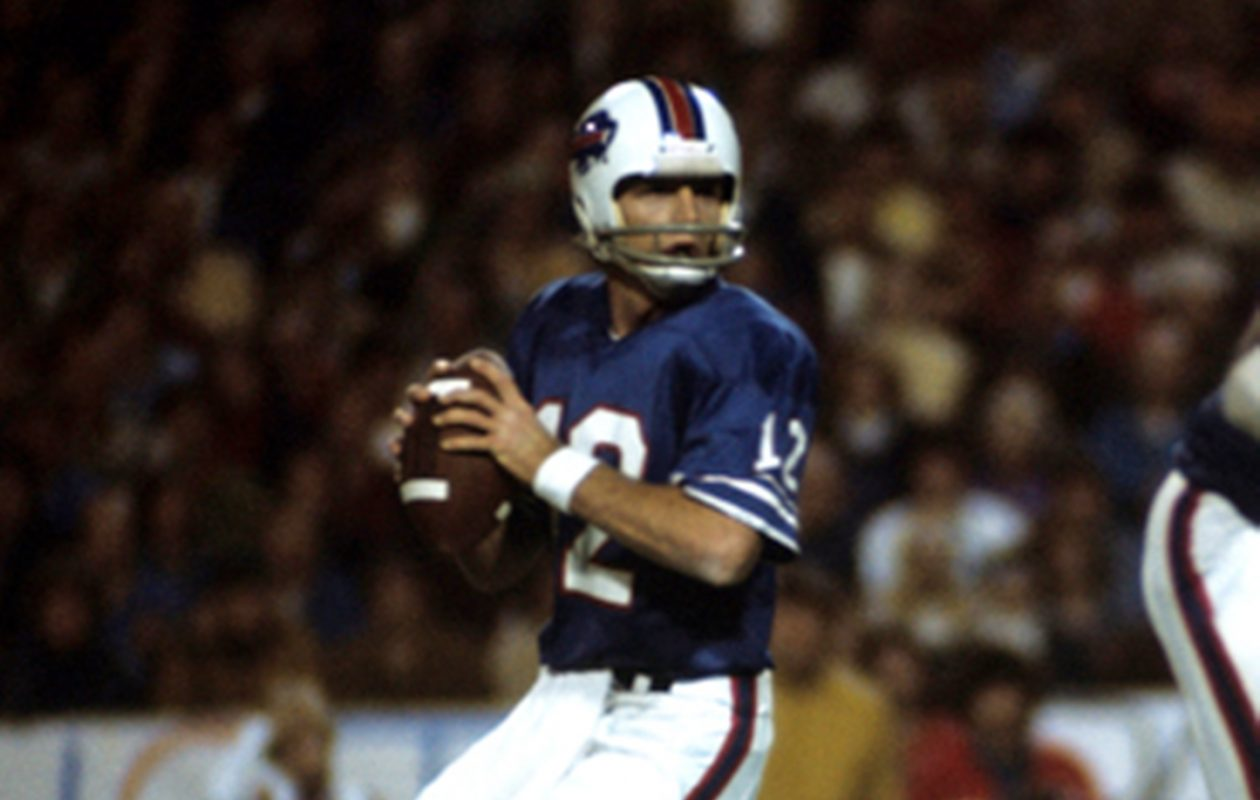 Going into the Oct. 12, 1975, game against the Colts, Bills quarterback Joe Ferguson had six touchdown passes and no interceptions thrown – tallying a 109.8 passer rating.