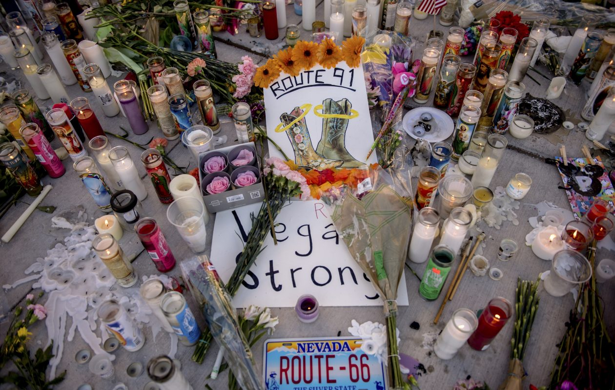 A makeshift memorial to the victims of a mass shooting is an all-too-familiar sight across the United States. (New York Times photo)