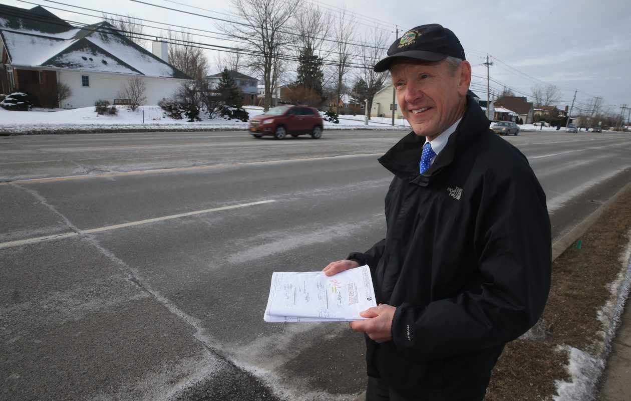 Charlie Sickler, Erie County's deputy commissioner of highways, says work to repave Maple Road in Amherst will begin Oct. 16. (John Hickey/Buffalo News file photo)