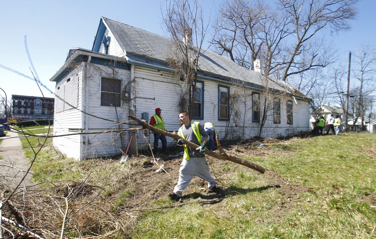 There have been 300 clean sweeps in the city, like this one in April 3013, since Mayor Byron Brown took office in 2006.  (John Hickey/Buffalo News)