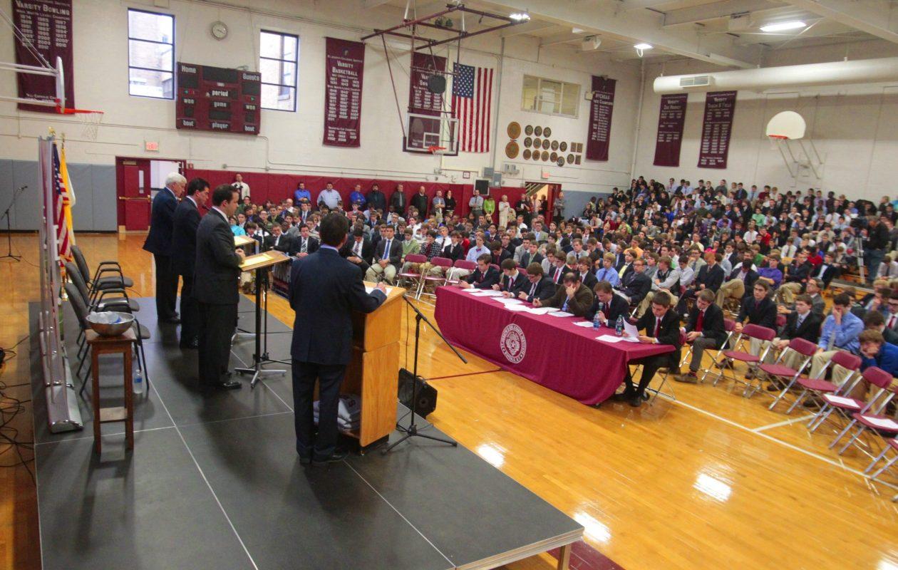 A candidates' debate at St. Joseph's Collegiate Institute in 2012. (News file photo)