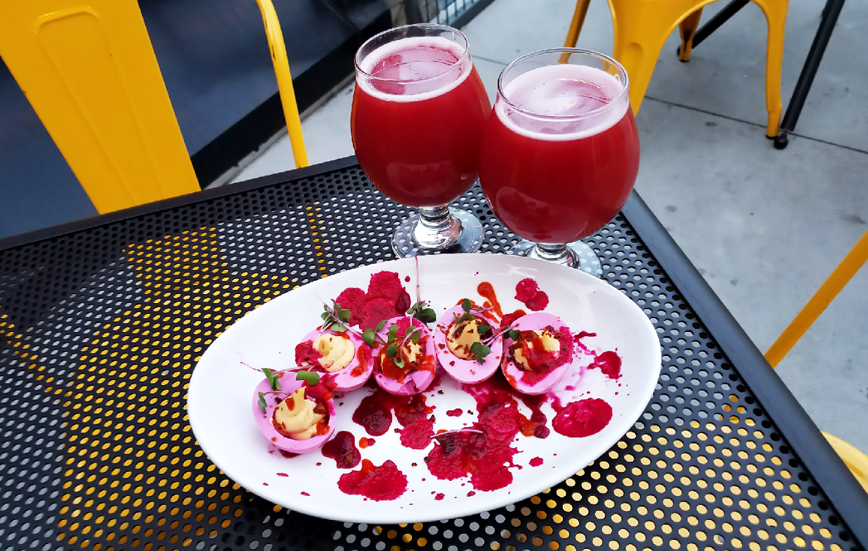 Thin Man's Minkey Boodle, a sour raspberry beer. (via Thin Man)