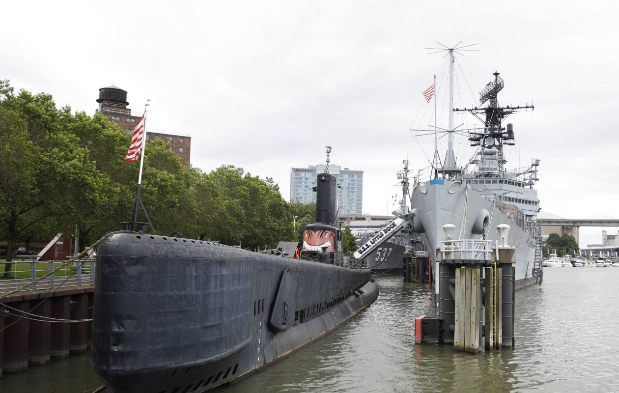The main attractions at the Buffalo & Erie County Naval & Military Park are the three naval vessels which provide a look into WWII history. (File photo by Sharon Cantillon/Buffalo News)