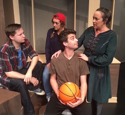 """Mike Benoit, left, Clarissa Maloy, Zachary Bellus and Lisa Vitrano star in the Theatre of Youth's production of """"New Kid."""""""