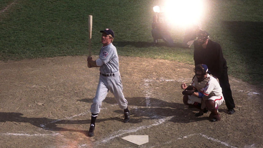 """Robert Redford starred as New York Knights slugger Roy Hobbs in 1984's """"The Natural."""""""